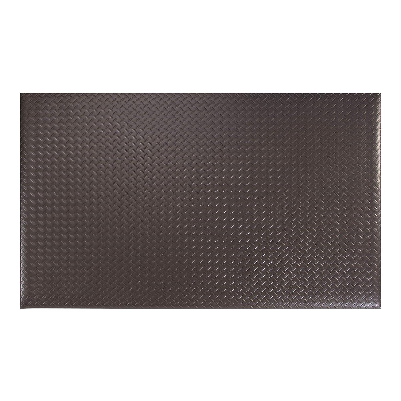 Amazon Basics Anti-Fatigue Mat Diamond Deckplate Single-Layer Foam 1/2