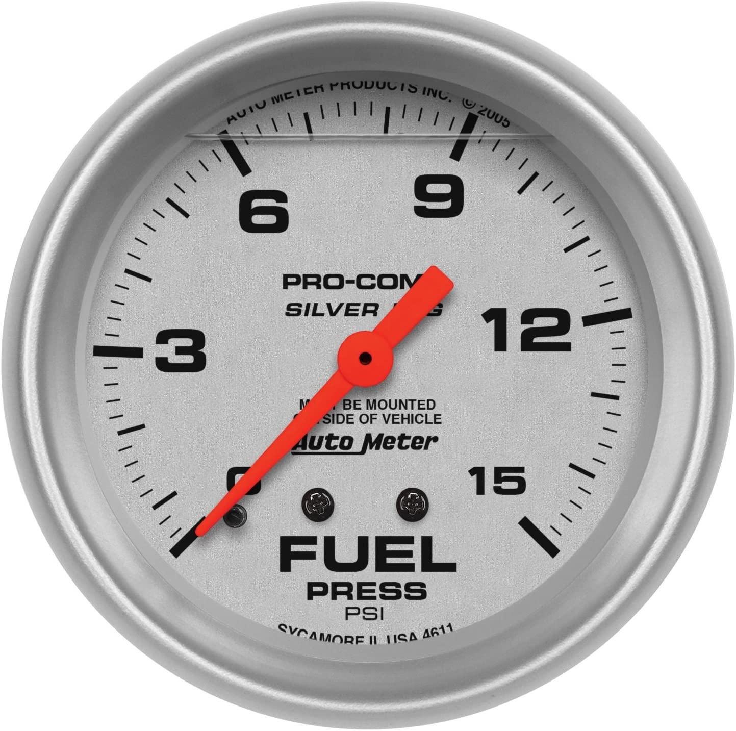 Auto Meter 4611 Silver LFGs Fuel Pressure Gauge