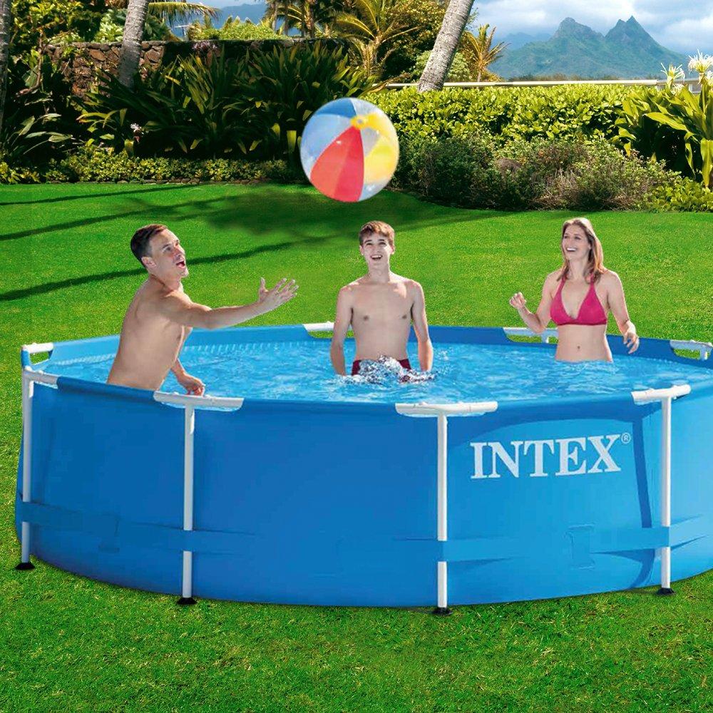 Intex Aufstellpool Frame Pool Set Rondo, Blau, Ø 305 x 76cm: Amazon ...