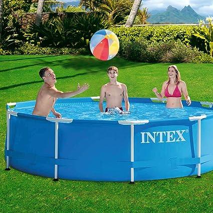 Intex Metal Frame - Piscina desmontable de 4.485 litros, 305 x 76 cm: Amazon.es: Jardín