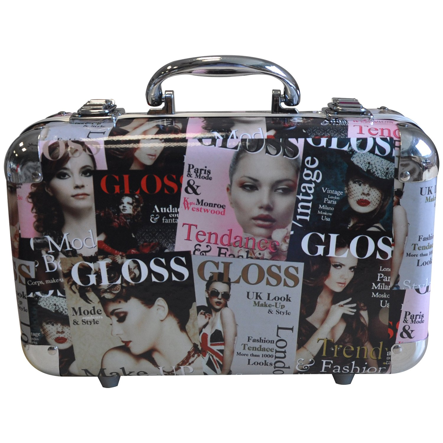 Gloss! 814-UK1 Valigetta Trucco, London Fashion Week, 64 Pezzi, Blu Universal Beauty Market