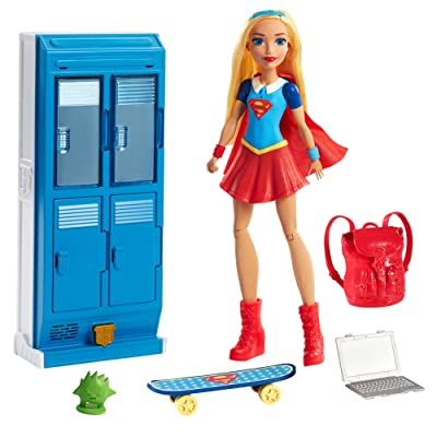 Mattel DC Super Hero Girls Supergirl Locker Accessory & Doll: Toys & Games