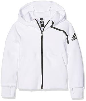 Adidas Yg AA Zne FZ HD - Sudadera para niñas de 13-14 años, Color Blanco/Negro: Amazon.es: Deportes y aire libre
