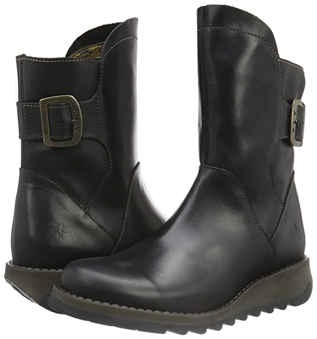 Womens Sien 571 Rug Black Leather Boots
