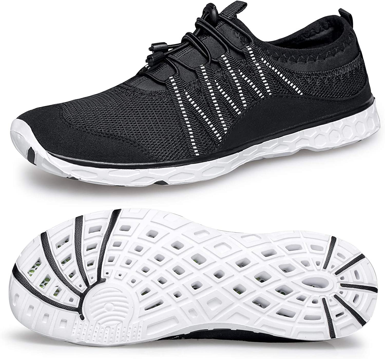 Alibress Men's Water Shoes Lightweight Quick Dry Aqua Beach Shoes