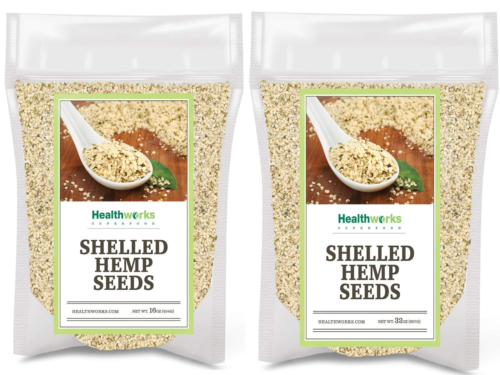 Healthworks Shelled Hemp Seeds Canadian (48 Ounces / 3 Pound) | Premium & All-Natural | Contains Omega 3 & 6, Fiber and Protein | Great with Shakes, Smoothies & Oatmeal