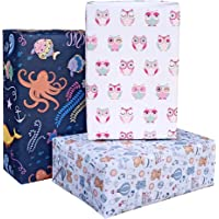 Aakar Pack of 6, Size 17 x 29 Inches, Wrapping Paper Sheets For Craft, Packing, Birthday, Christmas, Wedding (Toddlers…