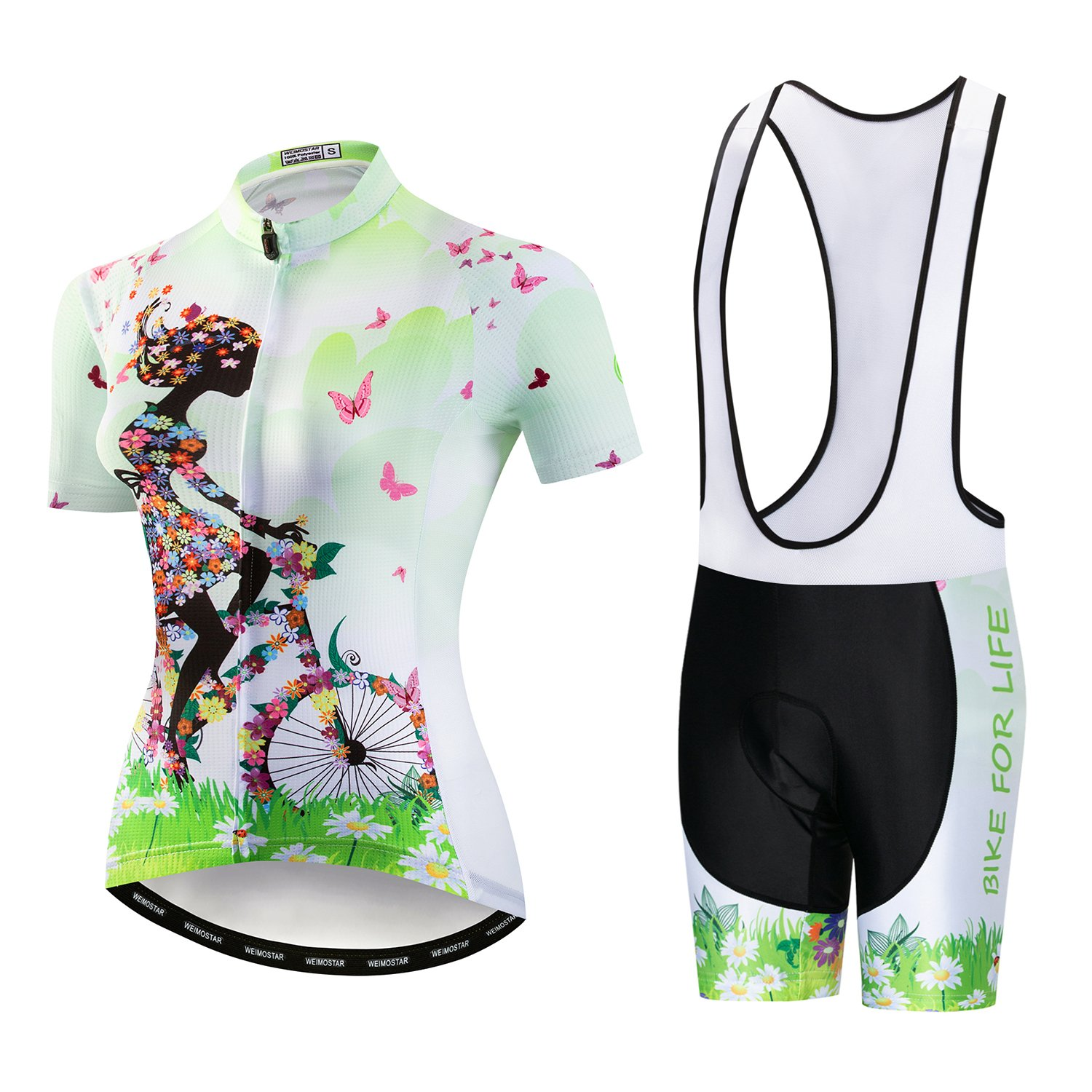 2019激安通販 Weimostar SHIRT レディース SHIRT Small Weimostar Green Jersey and Bib Shorts Shorts B07FPB7SRT, ナビ キャンセラー販売:af9b0c45 --- martinemoeykens-com.access.secure-ssl-servers.info
