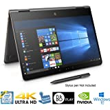 "HP Spectre x360 2-in-1 15.6"" 4K Ultra HD TouchScreen Laptop 7th Gen Intel Kaby Lake i7-7500U 16GB Ram 512GB SSD NVIDIA 940MX Thunderbolt Win 10 HP Active Pen"