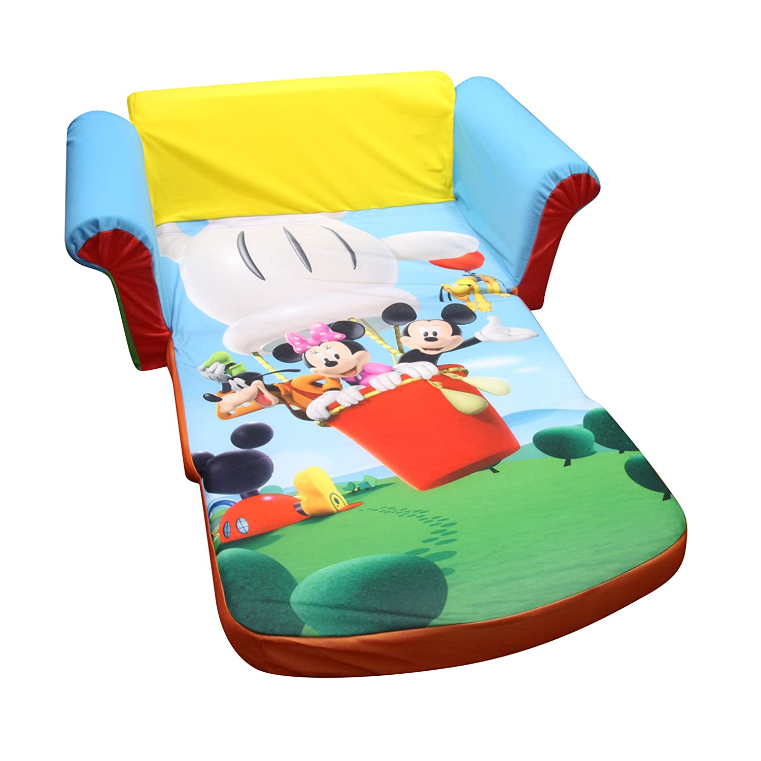 Mickey Mouse Clubhouse Bedroom Furniture Amazoncom Marshmallow Furniture Flip Open Sofa Mickey Mouse