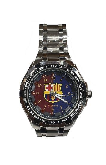 Reloj Caballero FC Barcelona. Exclusivo y Elegante. Esfera de 4,5 cm: Amazon.es: Relojes