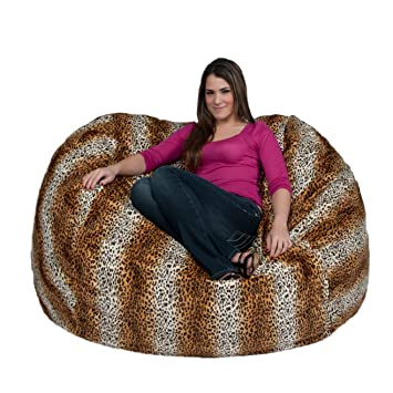 Cool Cozy Sack 5 Feet Bean Bag Chair Large Leopard Print Ocoug Best Dining Table And Chair Ideas Images Ocougorg