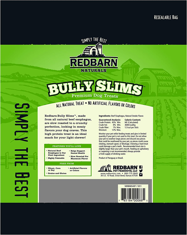 Redbarn Bully Slims Dog Treats 40 Pack