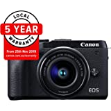 Canon M6IIKIS Digital Camera - Mirrorless Canon EOS M6 MKII Mirrorless Camera with EFM 15-45mm f/3.5-6.3mm IS STM Lens , Black (M6IIKIS)