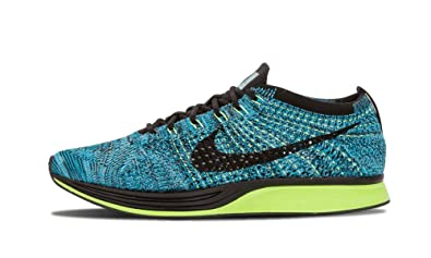 a4bea8f9fe4d Image Unavailable. Image not available for. Color  Nike Men s Flyknit Racer  Running Shoes Blue Lagoon ...