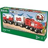 BRIO World 33888 - Güterzug mit Frachtladung Spielzeugzug