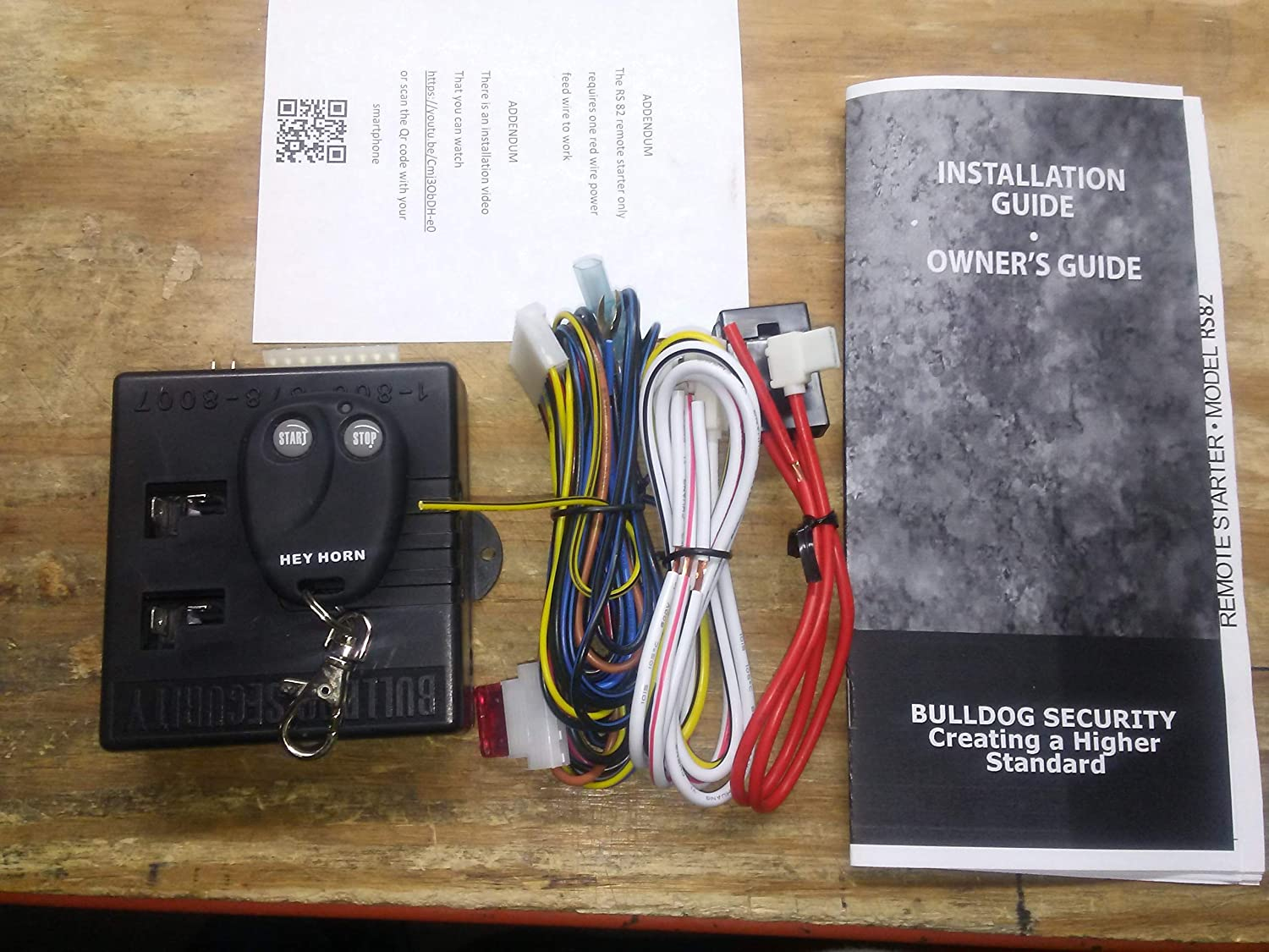 bulldog keyless entry system wiring diagram amazon com bulldog rs82 i do it yourself remote starter  bulldog rs82 i do it yourself remote