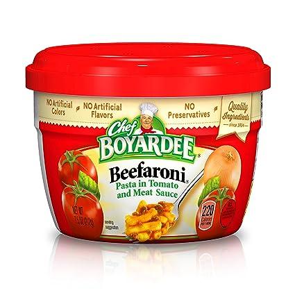 Chef boyardee Microondas beefaroni – 7,5 oz: Amazon.com ...