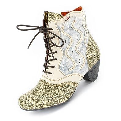6003e189d53abd TMA Damen Leder-Stiefeletten 8908 Animal-Look  Amazon.de  Schuhe ...