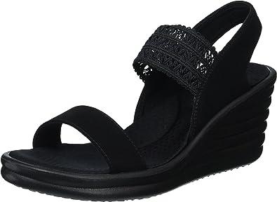 Skechers Skechers Cali Women's Rumblers Hot Shot Wedge Sandal,blackblack,11 M US from Amazon | more