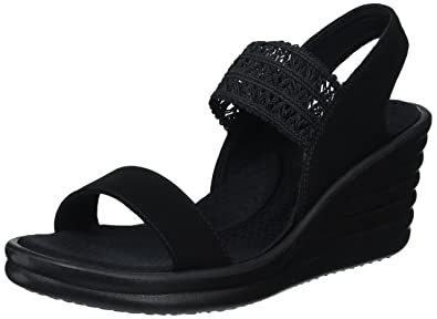 7ca346a2536b Skechers Cali Women s Rumbler Wave-Drama Diva Wedge Sandal