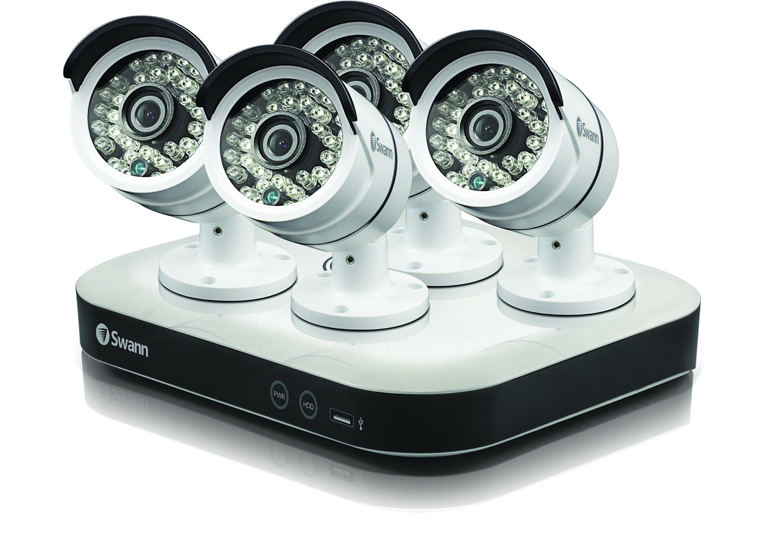 Swann SODVK-8720P134-US 8 Channel 1080p 1TB Security System Digital Video Recorder DVR with 4 x 720p Security Bullet CCTV Cameras