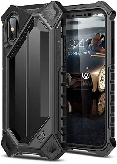 various colors 81693 3013b iPhone X Case, ELV iPhone 10 Case High Impact Resistant Rugged Armor Hybrid  Full Body Protective Case Cover for Apple iPhone X [Wireless Charging Not  ...