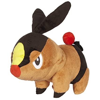 Pokemon Black And White Plush By Jakks - Reversible Pokeball Series 1 - Tepig/Pokabu