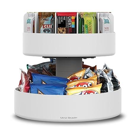 Amazon Com Mind Reader 2 Tier Lazy Susan Granola Bar And Snack