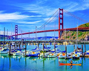 White Mountain Puzzles Golden Gate Bridge -1000 Piece Jigsaw Puzzle