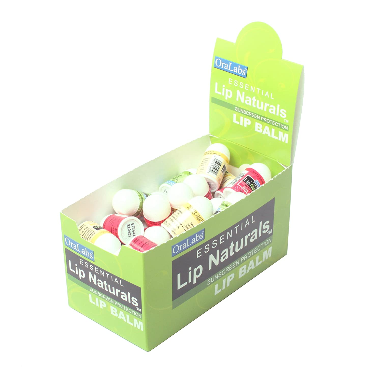 Essential Lip Naturals | Mini Lip Balm Assorted Flavors - Approximately 50ct (Vanilla Bean, Tea Tree Mint, Bing Cherry)[SPF-15]