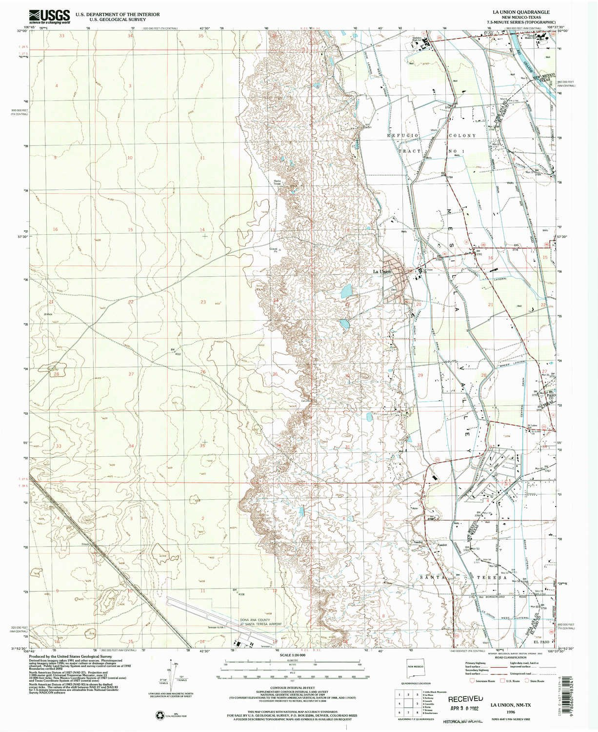 Amazon YellowMaps La Union NM topo map 1 Scale 7 5 X