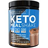 Keto Science Ketogenic Meal Shake Chocolate Dietary Supplement, Rich in MCTs and Protein, Keto and Paleo Friendly, Weight Los