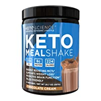 Keto Science Ketogenic Meal Shake Chocolate Dietary Supplement, Rich in MCTs and...