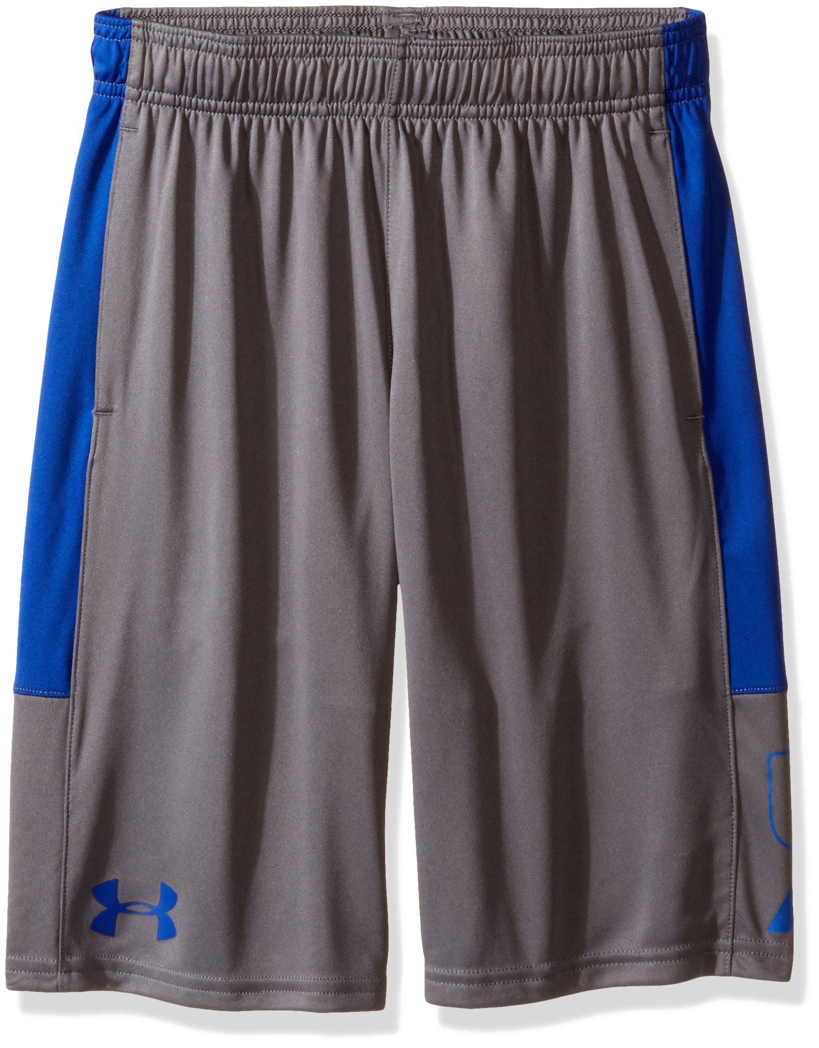 Under Armour Boys Instinct Shorts,Graphite /Royal Youth X-Small by Under Armour