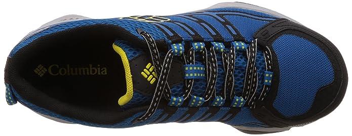 Columbia Conspiracy III Outdry?, Chaussures de Randonnée Basses Homme - Bleu (Dark Compass/Laser Lemon 402), 43.5 EU