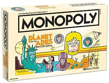 Planet Of The Apes Retro Edition Monopoly Juego De Mesa Amazon Es