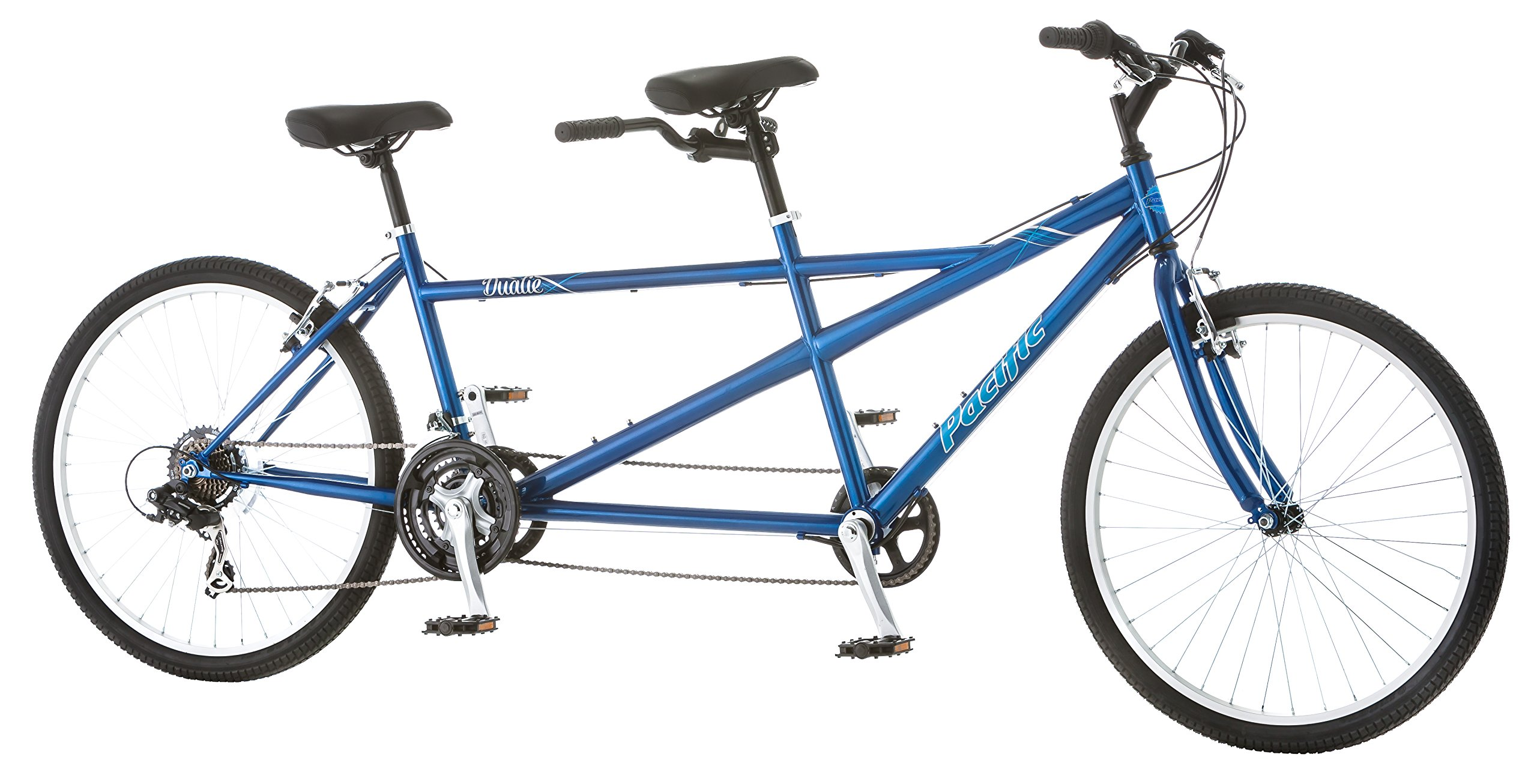 Pacific Dualie Tandem Bicycle w/ 26inch Wheels,Blue, One Size by Pacific