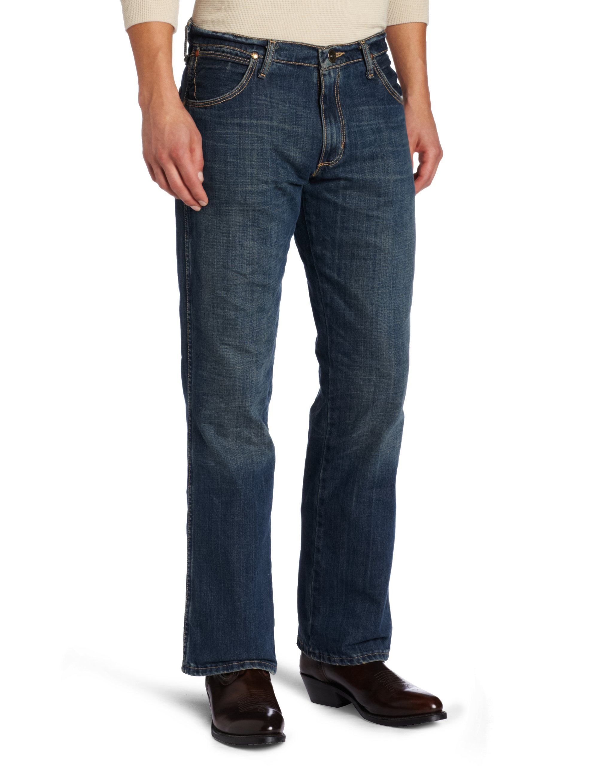 Wrangler Men's Tall Retro Slim Fit Boot Cut Jean Banjo Blue,Banjo Blue,36x38