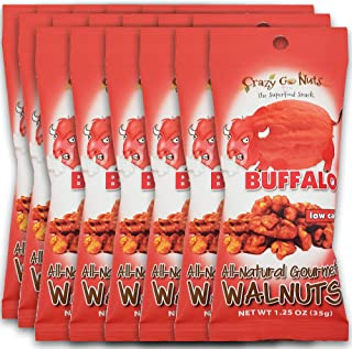 product image for Crazy Go Nuts Walnuts - Buffalo, 1.25 oz (18-Pack) - Healthy Snacks, Vegan, Gluten Free, Superfood - Natural, ALA, Omega 3 Fatty Acids, Good Fats, and Antioxidants