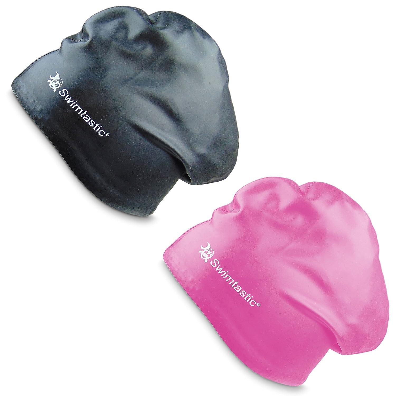 dickes oder lockiges Haar speziell f/ür langes Swimtastic Schwimm-Badekappe