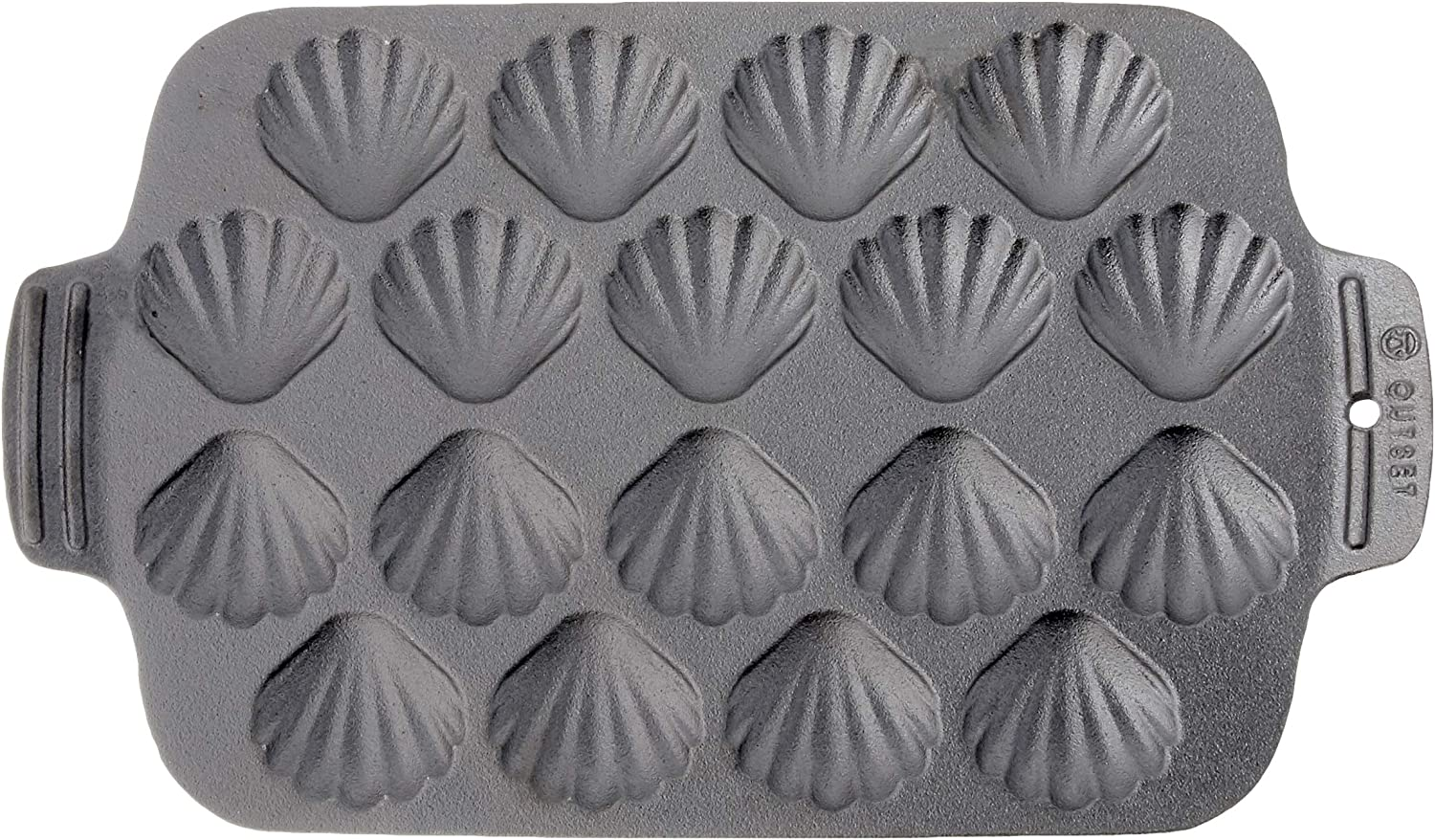 Outset 76377 Scallop Cast Iron Grill and Serving Pan