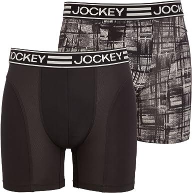 Jockey Deporte Microfibra Activa 2-Pack Bóxer Tronco, Cheque Negro ...