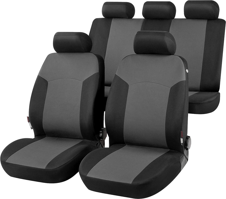 2013-2018 bracciolo Laterale rmg-distribuzione Coprisedili per RAV4 Versione IV Cinture di Sicurezza R01S0887 con Aperture per sedili con airbag sedili Posteriori sdoppiabili