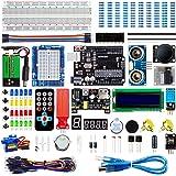Smraza Super Starter Kit Project Kit with Breadboard, Power Supply, Jumper Wires, Resistors, LED, LCD 1602, Sensors…
