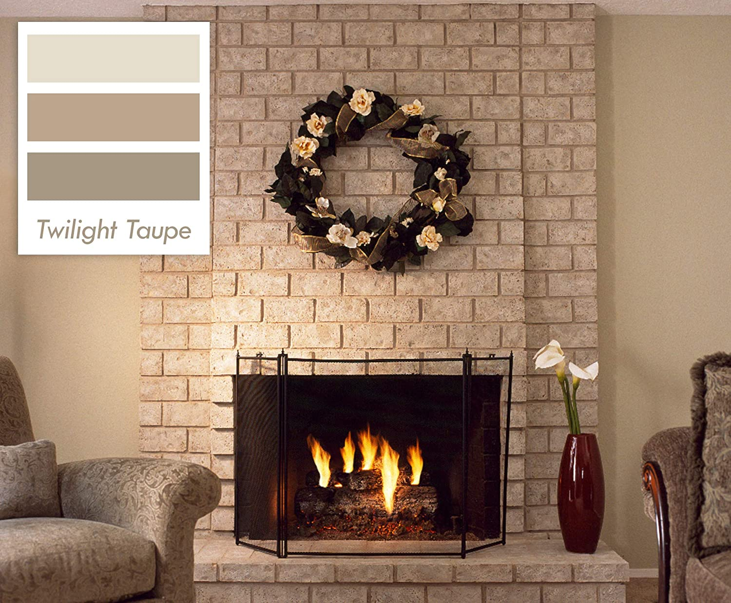 Brick Anew All In One Brick Fireplace Paint Kit Twilight Taupe