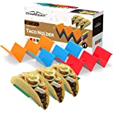 CHARMOUNT Taco Holder Stand Set of 4 Taco Rack Holders - Premium Taco Shell Holder Stand on Table with Handle, Hold 2 or…