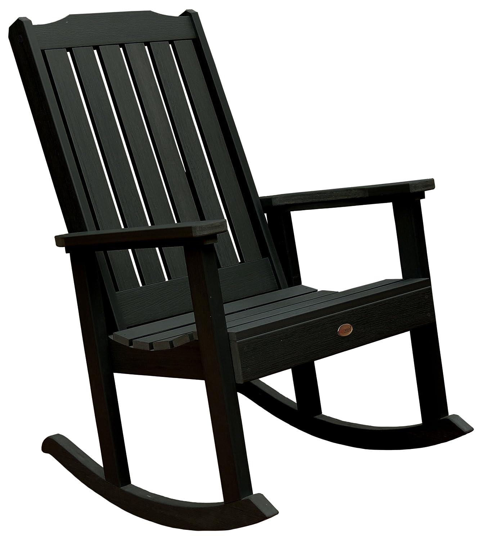 Black outdoor rocking chairs - Amazon Com Highwood Lehigh Rocking Chair Charleston Green Patio Rocking Chairs Patio Lawn Garden