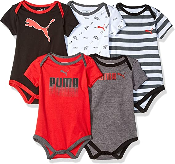 PUMA Infant Baby Boy/'s 2-Piece Pants Set with Short Sleeve Bodysuit NEW