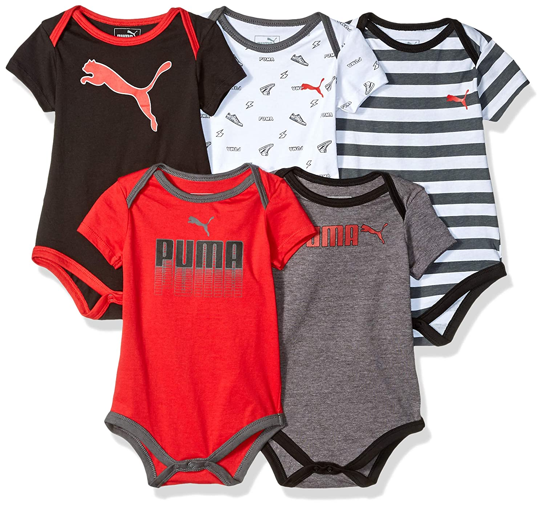cf304c513eb12 PUMA Baby Boys 5-Pack Bodysuit Set